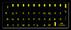 Russische Tastaturaufkleber (gelb)